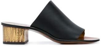 Chloé low block heel mules