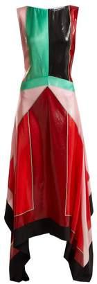 Diane von Furstenberg Contrast Panel Silk Blend Dress - Womens - Multi