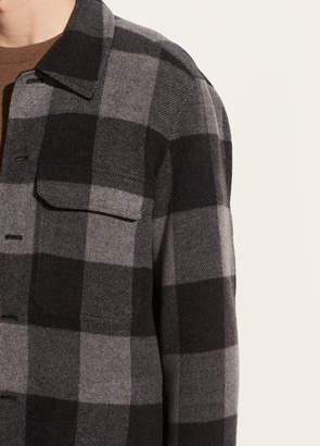 Splittable Wool Plaid Overshirt