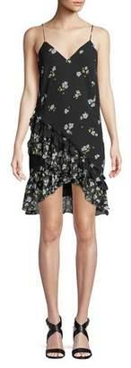 Bardot V-Neck Sleeveless Ditsy-Floral Dress