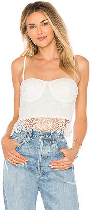 by the way. Adriana Floral Lace Bustier