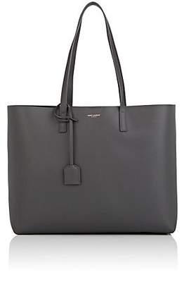 Saint Laurent Women's Leather Shopping Tote Bag - Gray