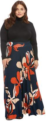 Theory White Label Long Full Skirt - Pop Floral, Plus Size