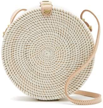 Pink Haley Jones Vacay Round Straw Crossbody Bag