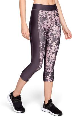 Under Armour Women's High Waisted HeatGear Print Capri Leggings