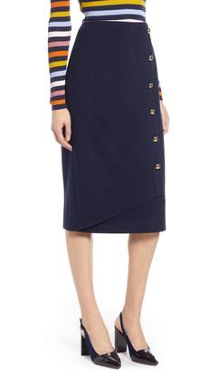 Halogen x Atlantic-Pacific Wrap Pencil Skirt
