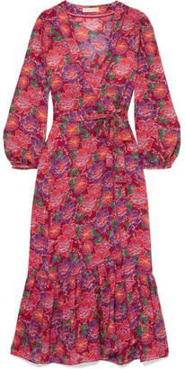 Paloma Blue - Bowie Floral-print Crepe De Chine Kimono - Red