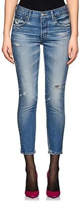 Moussy Women's Velma Distressed Skinny Jeans - Lt. Blue
