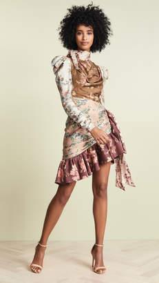 Zimmermann Tempest Tucked Contour Mini Dress