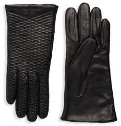 Portolano Crisscross Embroidered Leather Gloves