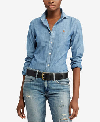 Polo Ralph Lauren Slim-Fit Cotton Chambray Shirt