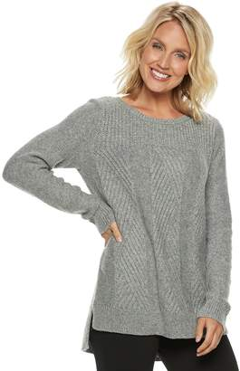 Dana Buchman Women's Cable-Knit Lurex Sweater