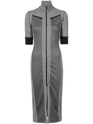 Proenza Schouler PSWL Gingham Zip Mockneck Dress