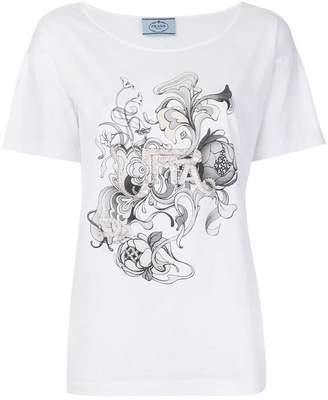 Prada embellished T-shirt