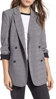 Treasure & Bond Plaid Oversized Blazer