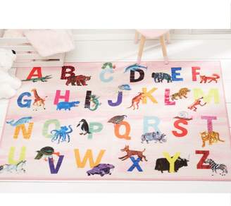 Eric Carle Alphabet Zoo Educational Pink Area Rug Rug