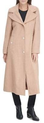 Karl Lagerfeld Paris Single-Breasted Maxi Coat