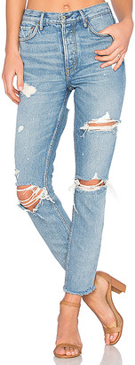 GRLFRND Karolina High-Rise Skinny Jean with Butt Slit.