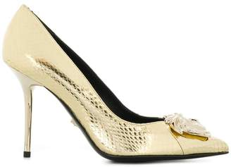 Versace metallic Medusa pumps