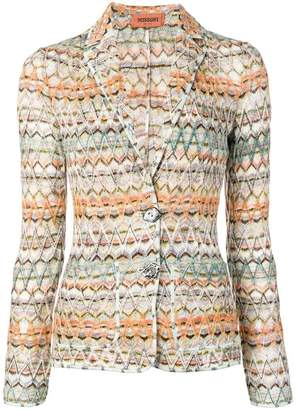 Missoni zig-zag knitted blazer