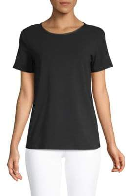 Max Mara Women's Scoop-Neck Tee - Black - Size Large