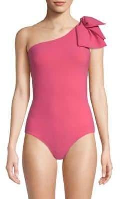 Chiara Boni Women's Sayla Bow One-Piece Swimsuit - Black - Size 38 (2)