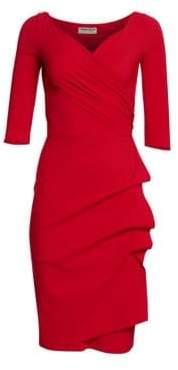 Chiara Boni Women's Florian Side Ruffle Dress - Blue Klein - Size 44 (8)