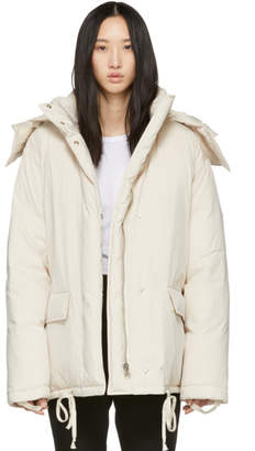 Helmut Lang Off-White Down Puffer Jacket