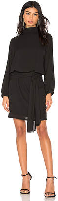 Krisa Tie Skirt Long Sleeve Mini Dress