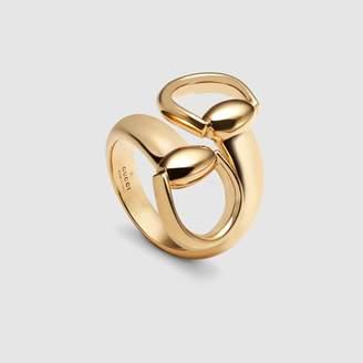 Gucci Horsebit ring in yellow gold