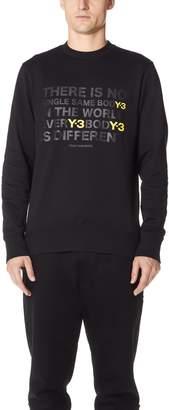 Y-3 Y 3 M Artwork Crew Sweater