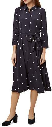 Hobbs London Lainey Polka Dot Shirt Dress