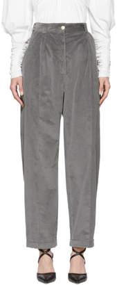 Nina Ricci Grey Corduroy Trousers