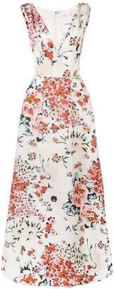 Carolina Herrera floral print evening dress