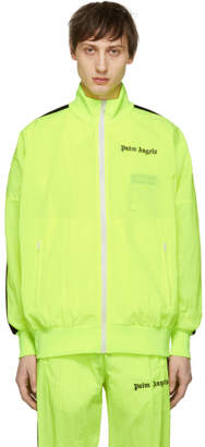 Palm Angels Yellow and Black Track Jacket