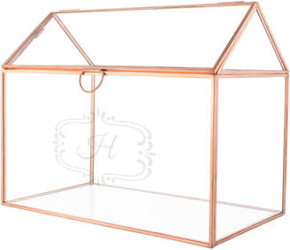 Cathy's Concepts Cathys Concepts Personalized Glass Terrarium Rose Gold Reception Gift Card Holder