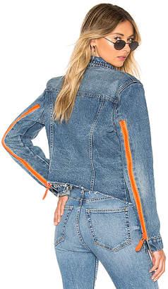 Blank NYC BLANKNYC Exposed Zipper Denim Tucker Jacket.