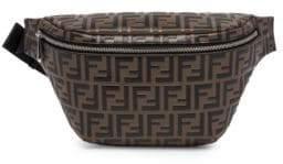Fendi Men's FF Embossed Belt Bag - Nero Maya