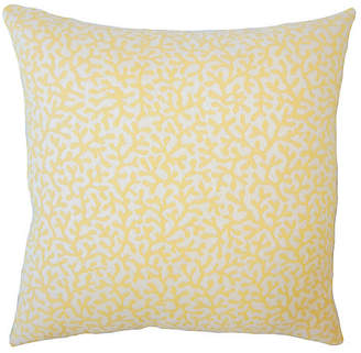 One Kings Lane Coral Coaster Outdoor Pillow - Yellow