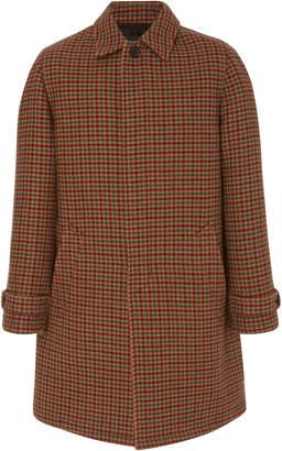 Prada Plaid Wool Overcoat