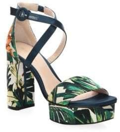Stuart Weitzman Women's Carla Platform Sandals - Beige - Size 8