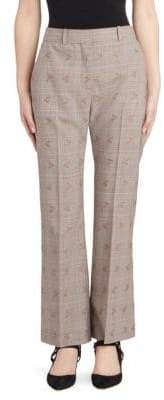 Altuzarra Women's Alder Floral Check Trousers - Light Camel - Size 38 (4)
