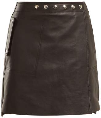 Acne Studios A-line wrap leather skirt