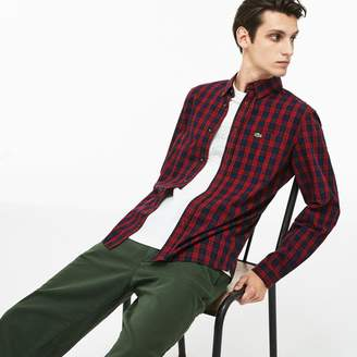 Lacoste Men's Motion Regular Fit Check Cotton Twill Shirt