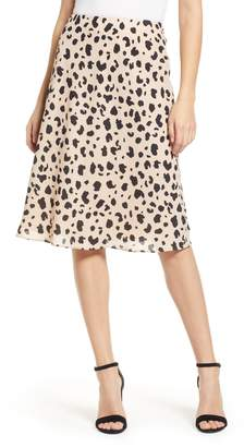 Socialite Leopard Print Midi Skirt