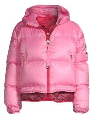 Tommy Hilfiger Tommy Tommy Women's Multicolor Double Down Puffer Coat - Azalea Pink - Size Small
