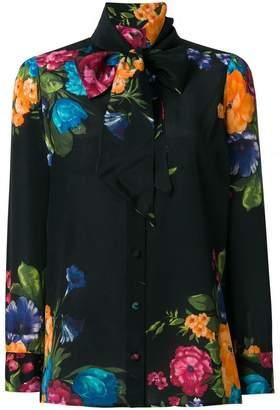 Gucci Pictoral Bouquet print blouse
