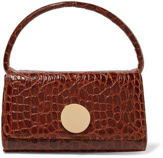 Little Liffner - Baguette Croc-effect Leather Shoulder Bag - Brown