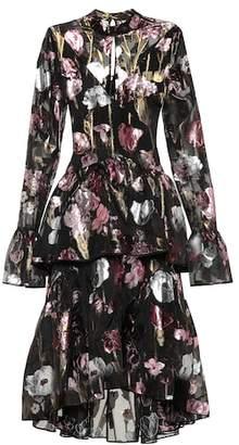 Erdem Bronte floral silk-blend midi dress