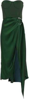 Jonathan Simkhai Strapless Bustier Asymmetric Dress